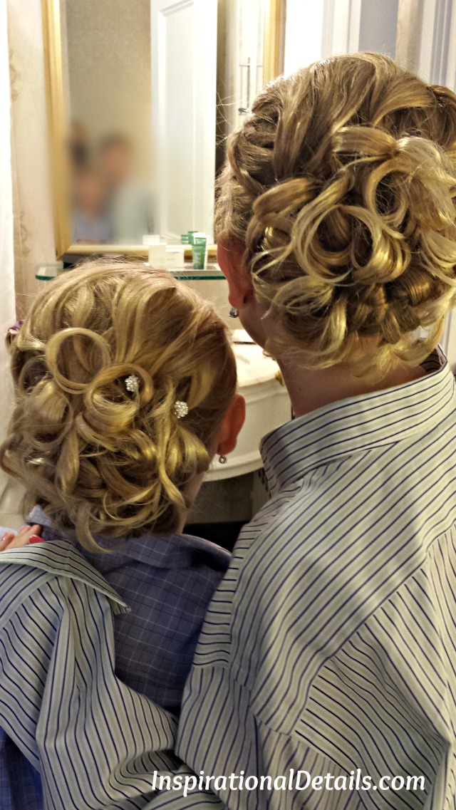 wedding day hair styles- junior bridesmaids