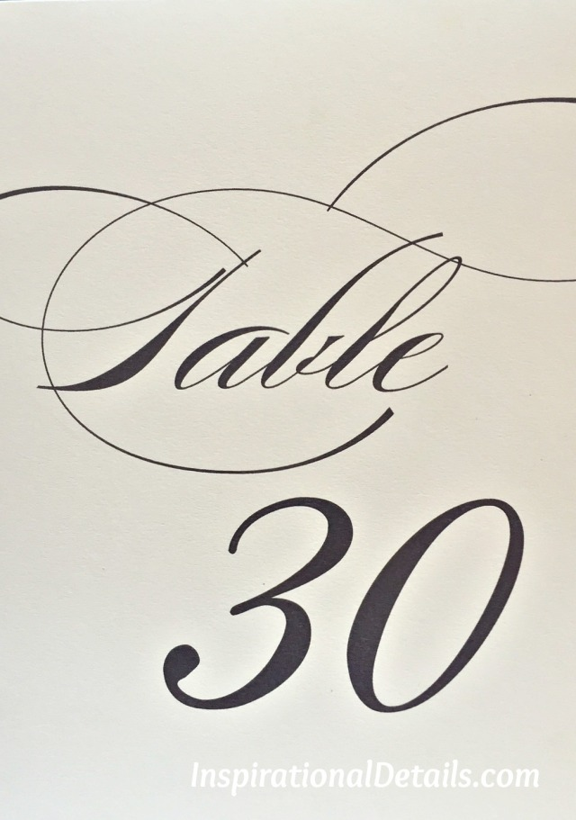 elegant and visible Table Numbers for wedding