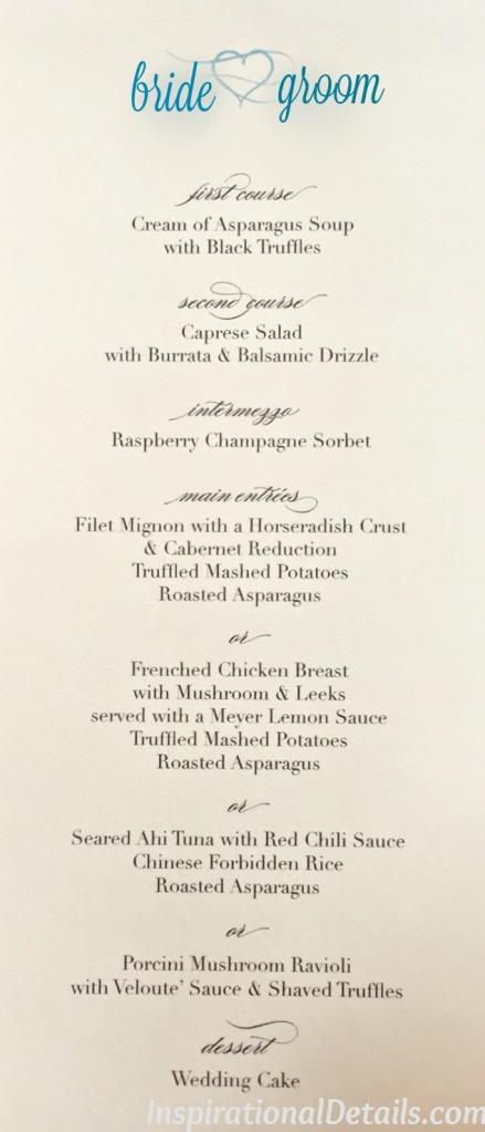 special wedding ideas reception