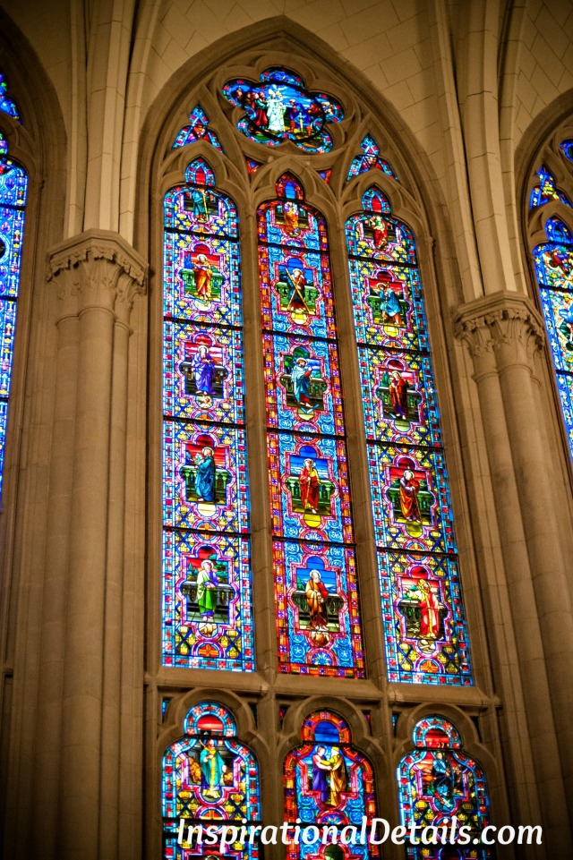 dazzling stained glass windows St. James Chapel