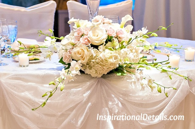 wedding reception flowers - sweetheart table ideas