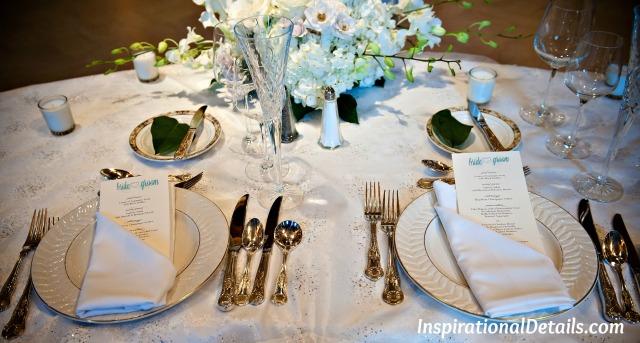 wedding reception special ideas - menus
