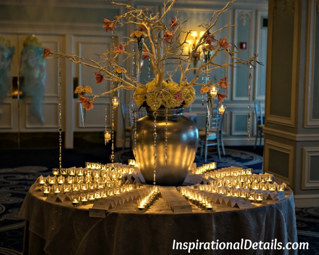 stunning place card table at event