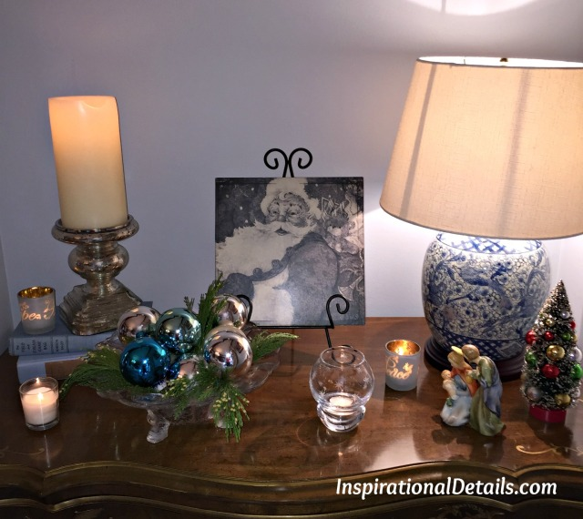 blue and silver Christmas decorating ideas