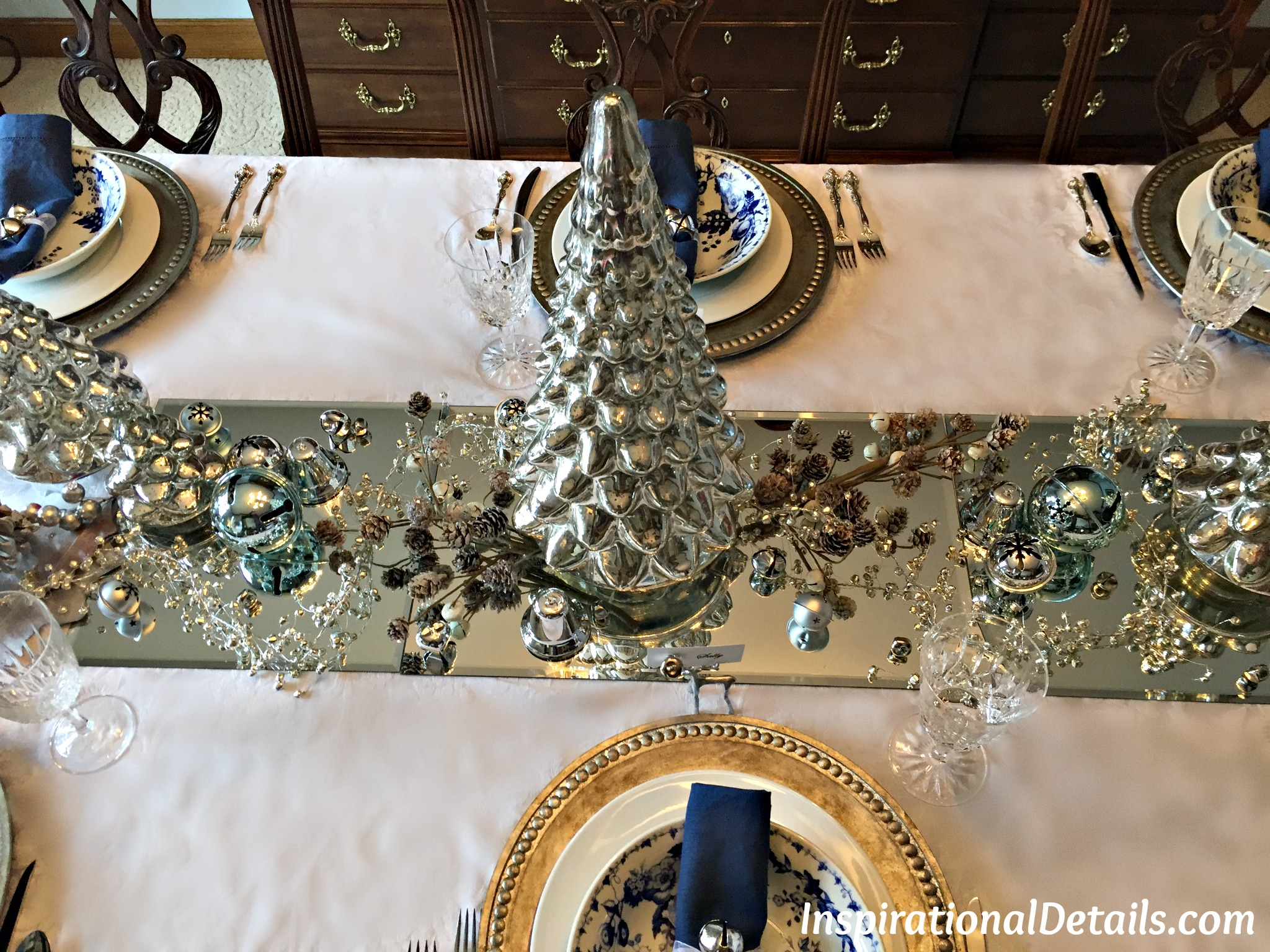 A Silver Bells Christmas Theme Dinner Party