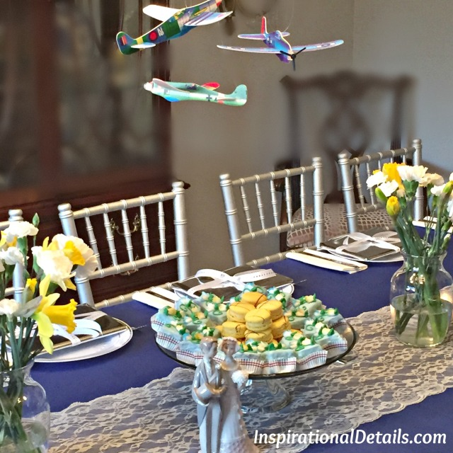 bridal shower with airline industry theme