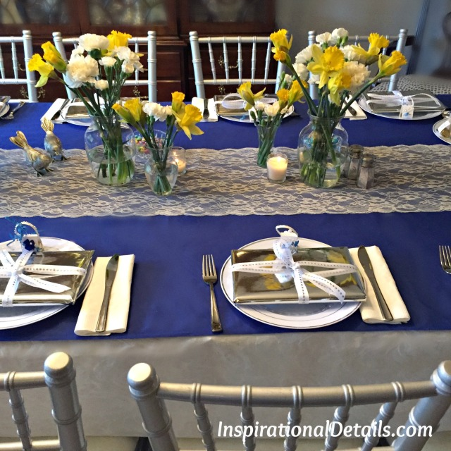bridal shower blue & yellow
