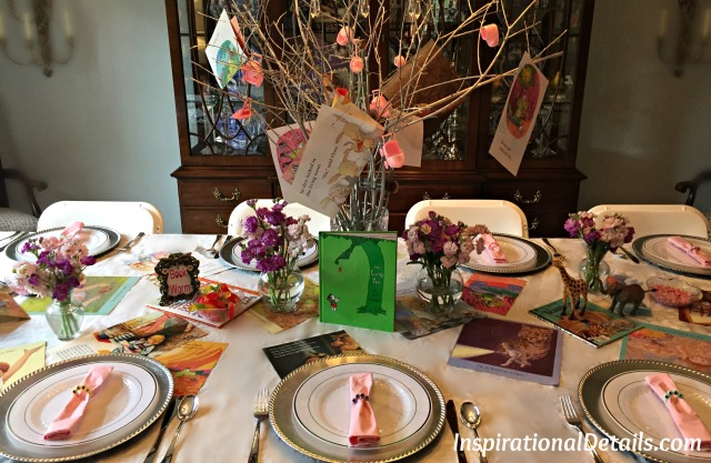 table ideas with book theme