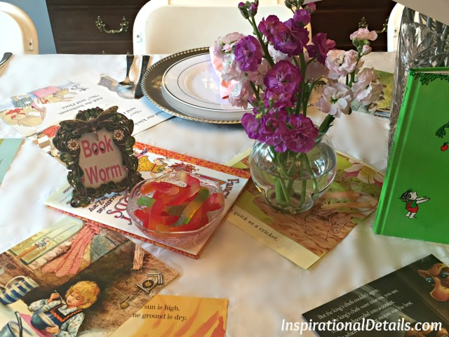 book theme tablescape ideas