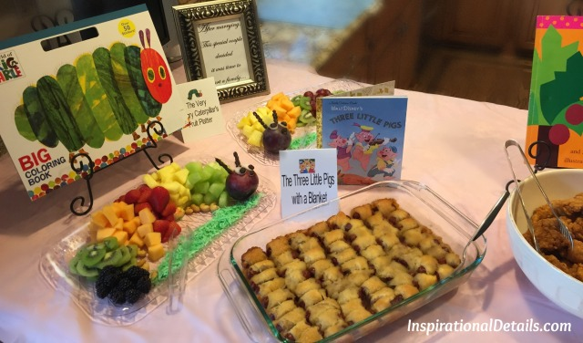 food ideas for book theme shower