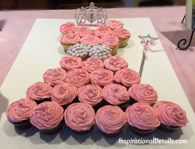 Cupcake dress for baby girl shower