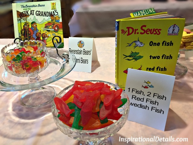book theme baby shower food ideas