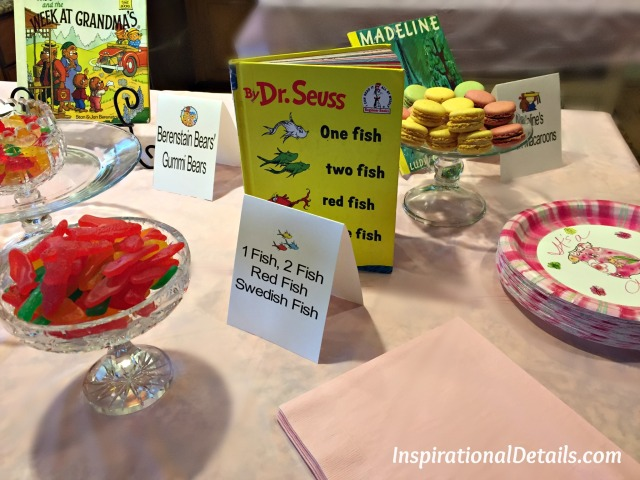 book theme baby shower ideas - food