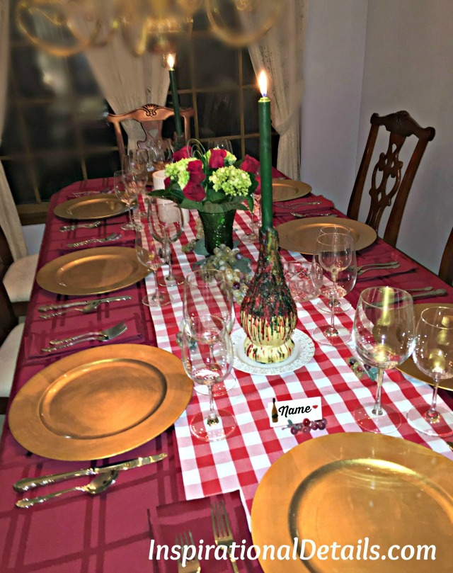 Italian theme table ideas