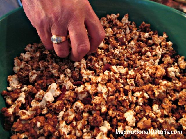 Derby menu ideas - Bacon Bourbon Carmel Popcorn