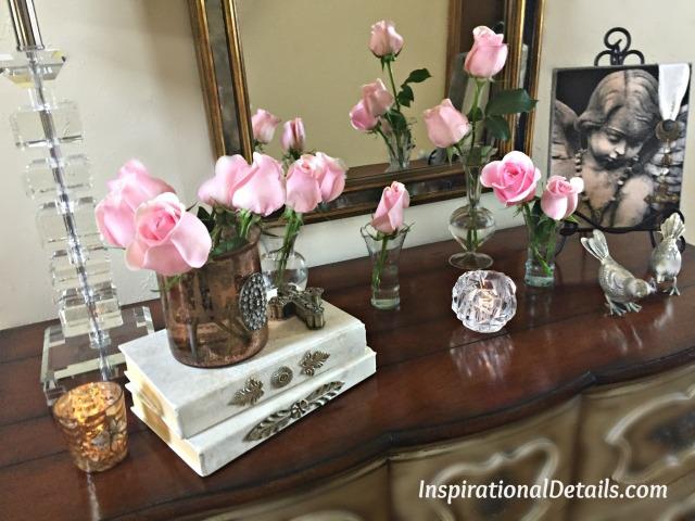 simple pink flowers ideas