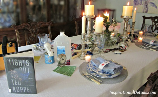 tablescape ideas ccoordinated with the book