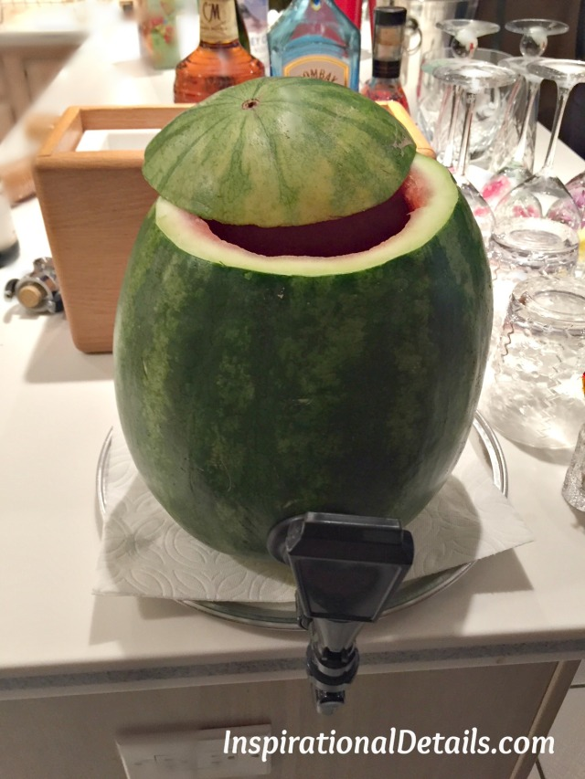 boozy summer punch served as a cocktail keg