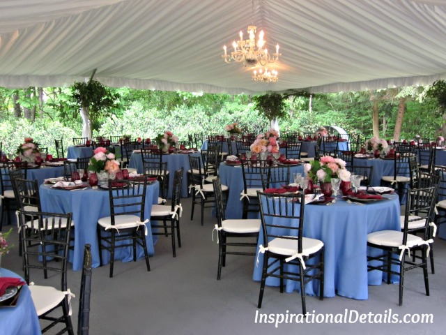 pretty party ideas in a tent