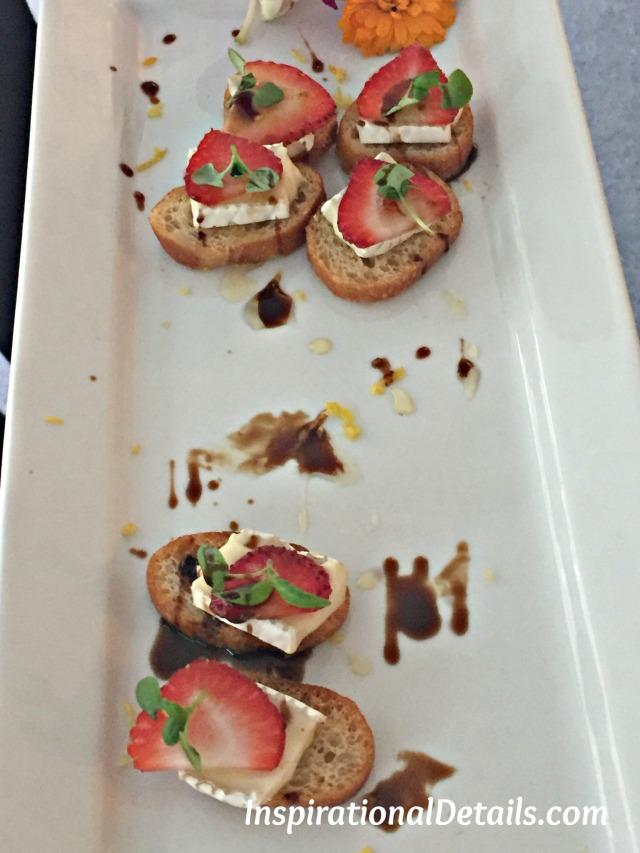 strawberry & brie crostini