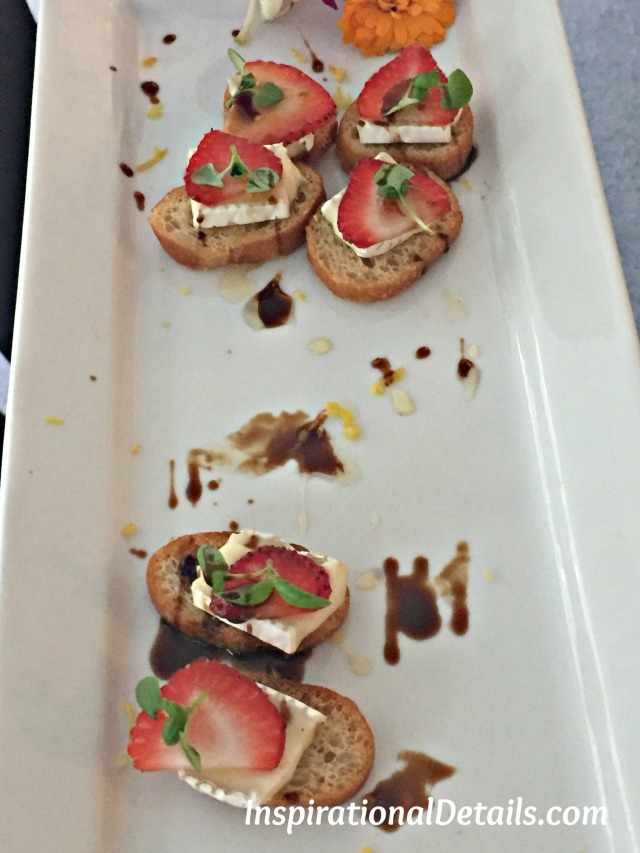 strawberry & brie crostini