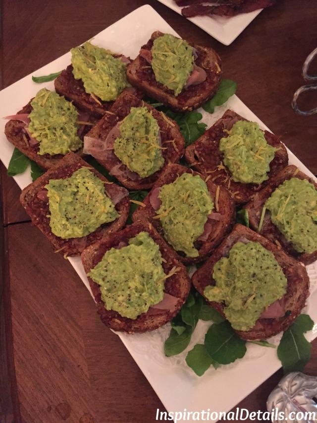 avocado toast bridal shower brunch idea