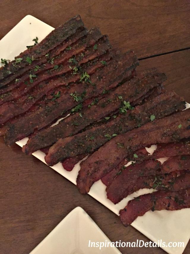 carmelized bacon brunch idea