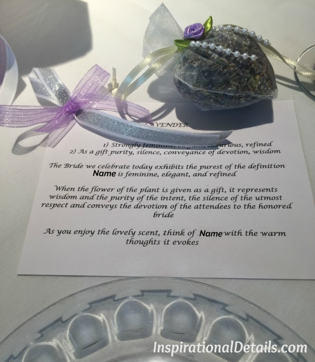 bridal shower favor ideas - lavender bags