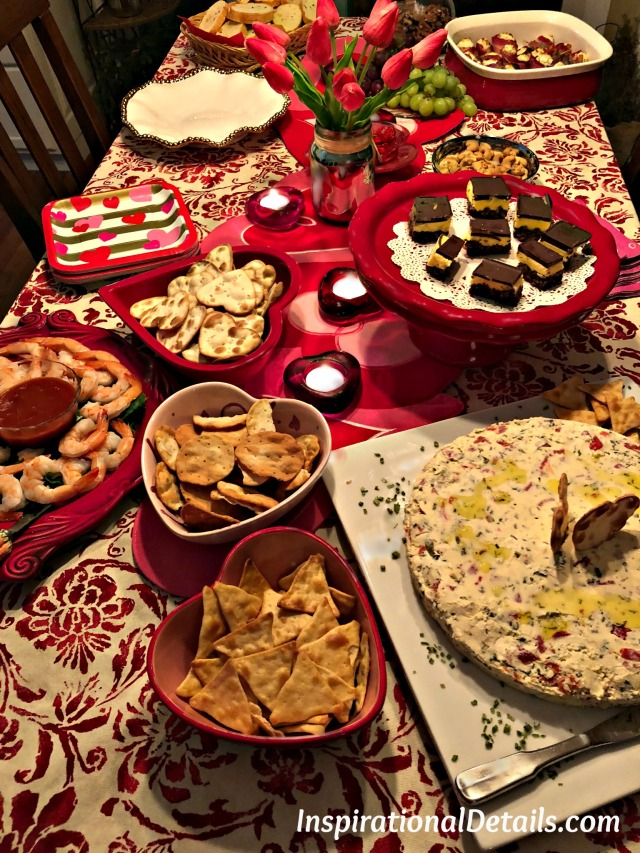 valentine's day party and food
