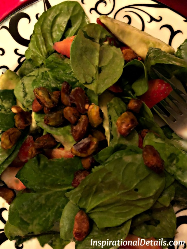 unique salads - stawberry, spinach and avocado salad