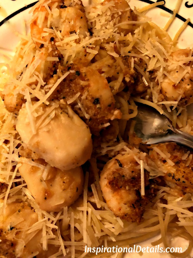 baked scallops with angel hair pasta