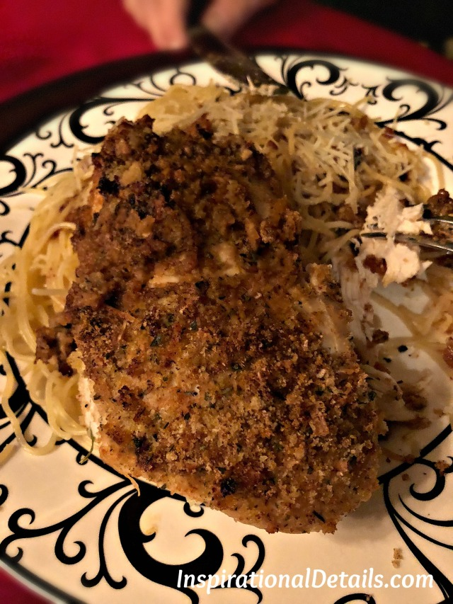Baked Chicken with Angel Hair Pasta