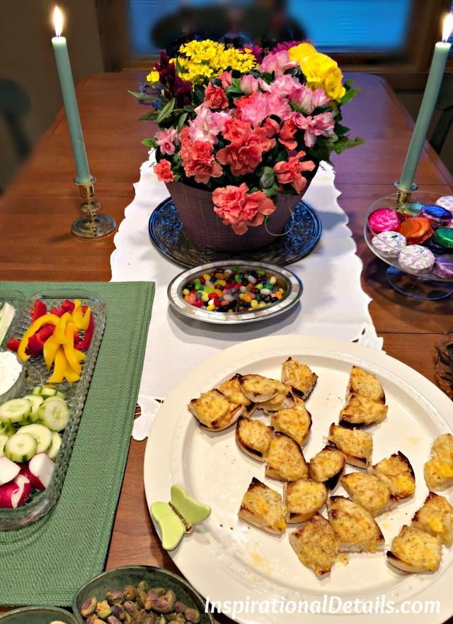 springtime dinner party