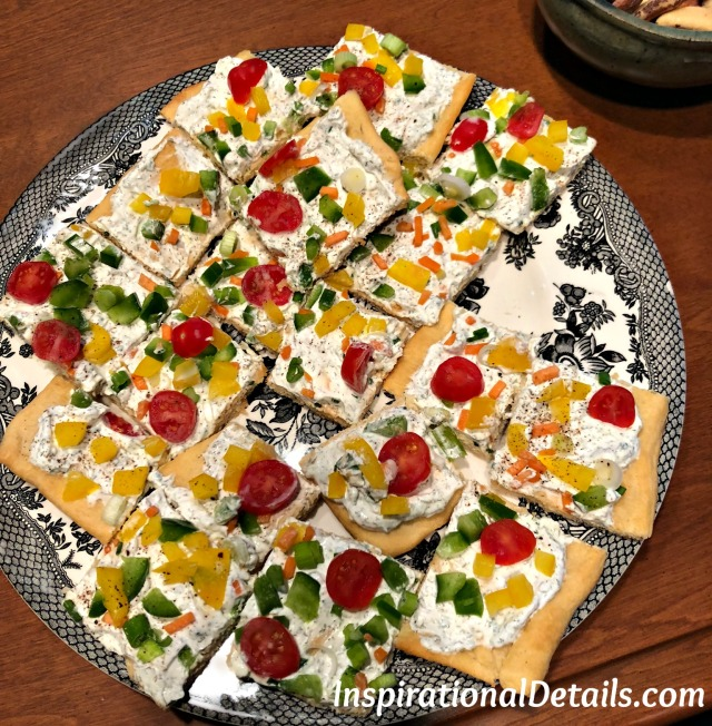 spring appetizer ideas - veggie pizza