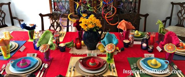 Mexican theme decor for cinco de mayo
