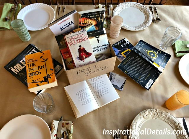 "book club table for ""The Great Alone"""