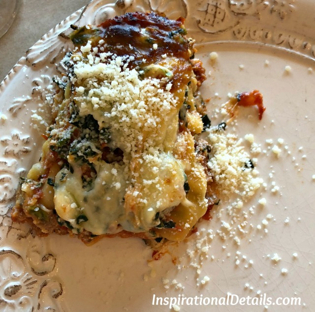 book club lunch - lasagna