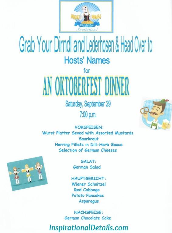Octoberfest menu ideas