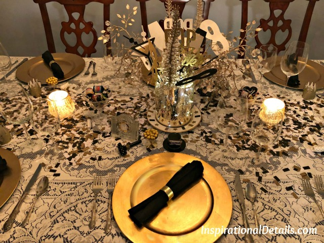 New Years Eve tablescape idea