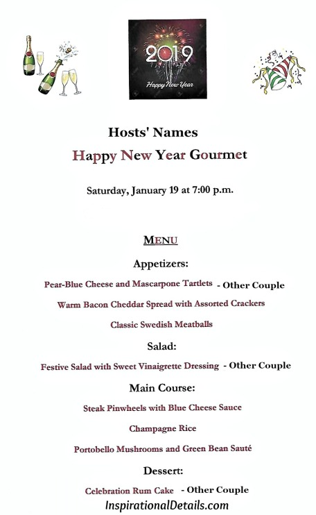 new years eve dinner party menu ideas