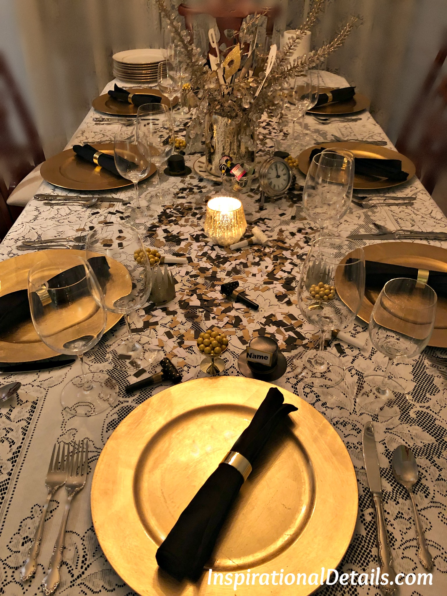 New Years Eve Dinner Party | Inspirational Details