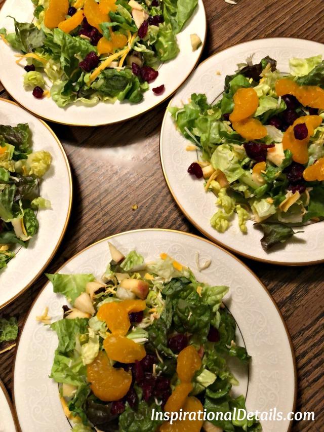 unique salad idea - festive salad