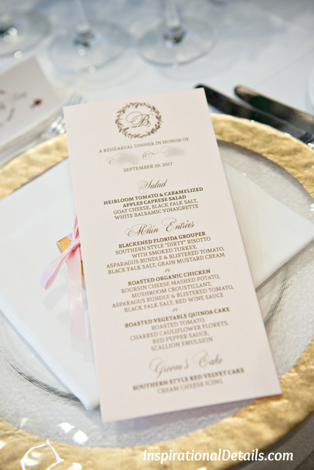 beautiful wedding menu ideas