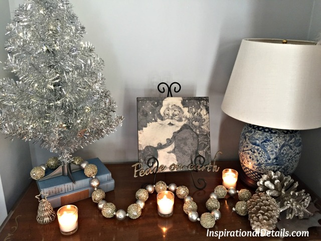 Christmas decorating ideas with silver