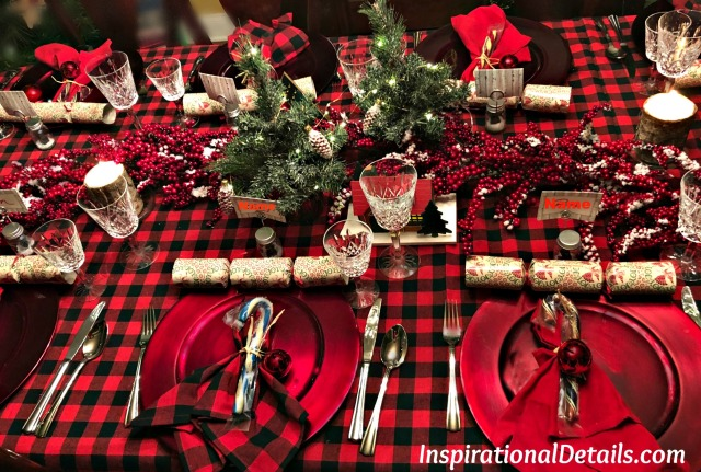red and black (buffalo check) table ideas