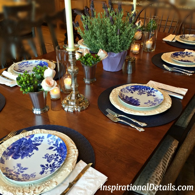 easy blue tablescape idea