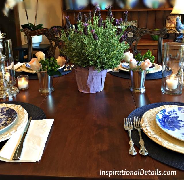 easy blue theme table ideas