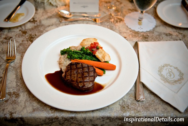 Petite Filet & Halibut - wedding surf and turf ideas