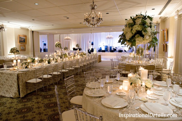 wedding inspiration - champagne and white colors