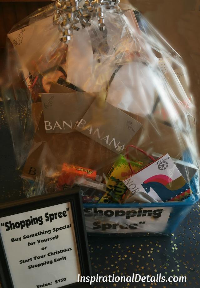 shopping auction basket ideas